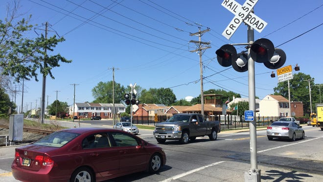 In New Castle, cars pass through one of the most dangerous railroad crossings in Delaware.