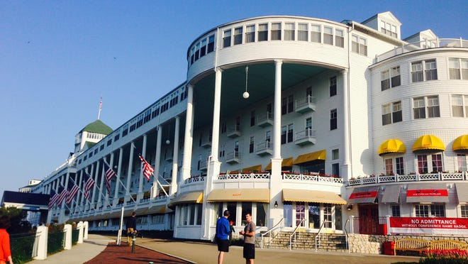 The Grand Hotel, home of the Mackinac Policy Conference on Mackinac Island.