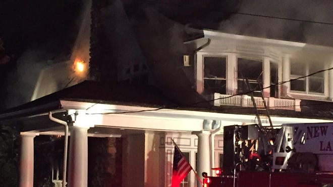 A blaze broke at a home on Paine Avenue in New Rochelle late Tuesday night.