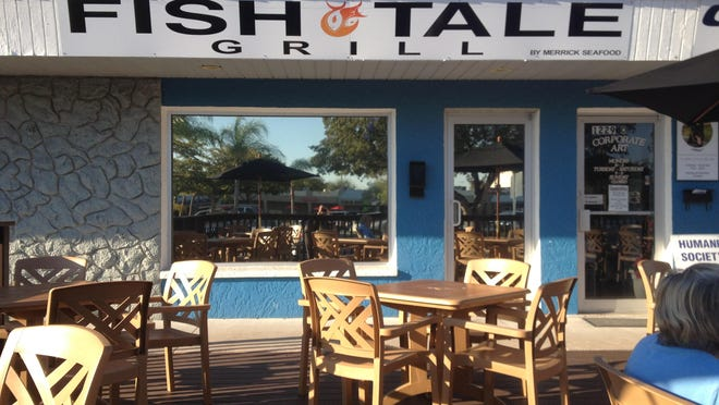 Patio seating on a new deck at Fish Tale Grill in Cape Coral.