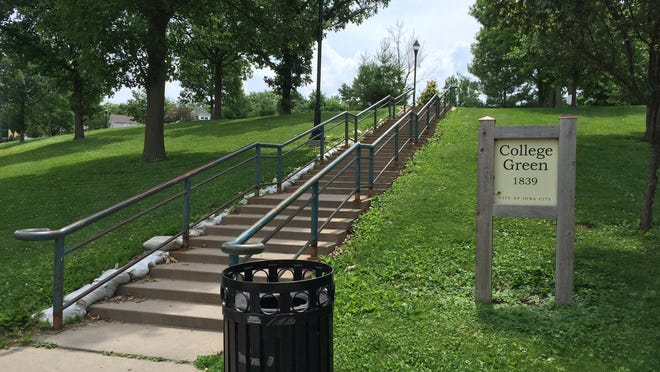 Johnson County artists will have the opportunity to paint 40 step risers located at the northwest corner of College Green Park. The stairs are seen on Thursday, June 6.