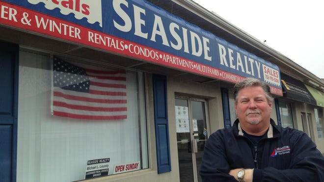 Michael Loundy in front of his Seaside Reality in Seaside Heights.
