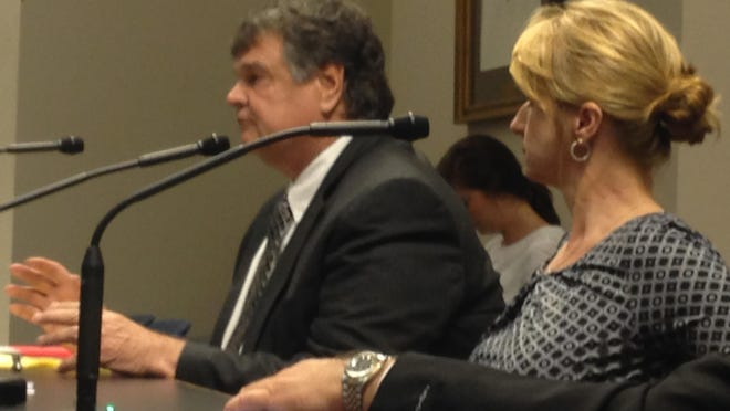 DeSoto Parish District Attorney, Gary Evans and Gwen Salley's sister, Theresa Donald fight to preserve Gwen's Law during a session with senate judiciary committee.