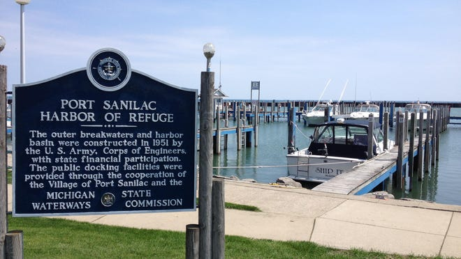 Two people were rescued from Lake Huron near Port Sanilac Thursday.