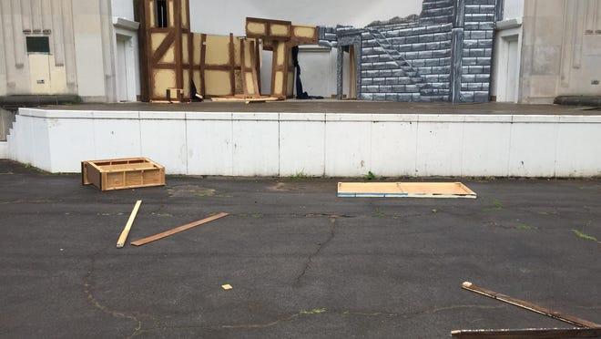 Set of Henry IV at Highland Bowl destroyed by vandals.