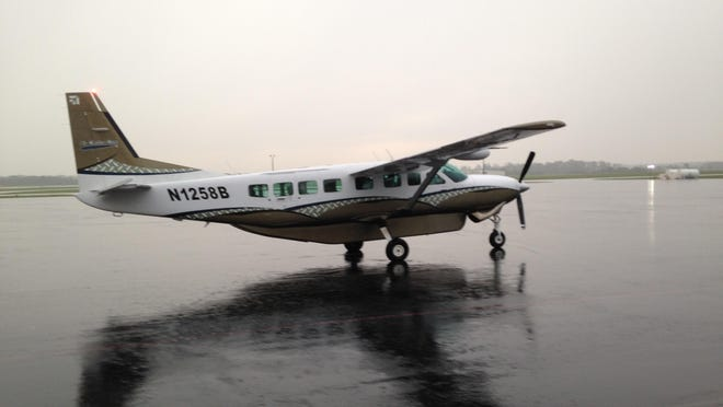 Air Choice One's first commercial flight from Jackson left McKellar-Sipes Regional Airport on Monday.