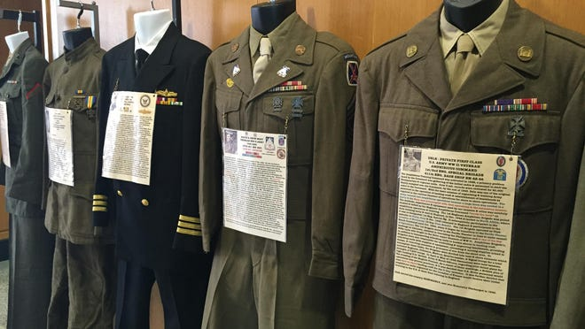 Military uniforms from the Civil War to present day are on display in the Galleria of the Oregon State Capitol through July 16.