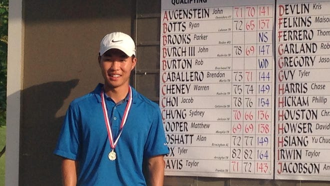 Sydney Chung shot a two-round 136 to qualify Monday for the U.S. Amateur Golf Championship.