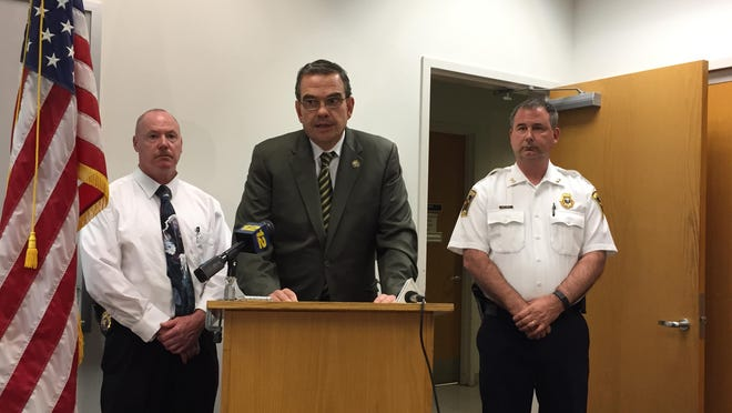 Westchester County Police Commissioner George Longworth on Monday announcing the death of Jose Sanchez, 53, of Mt. Kisco, has been ruled a homicide.
