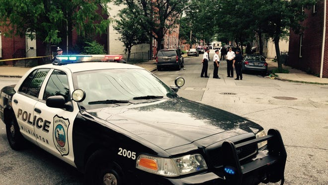 Wilmington police investigate Monday afternoon in the area of Sixth and Madison streets, after a man was shot in that area.