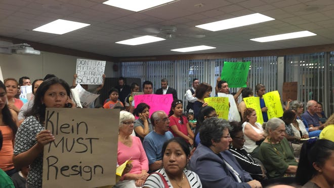More than 100 packed the July 7 East Ramapo school board meeting. The board hired a new law firm, and Yehuda Weissmandl was renamed school board president.
