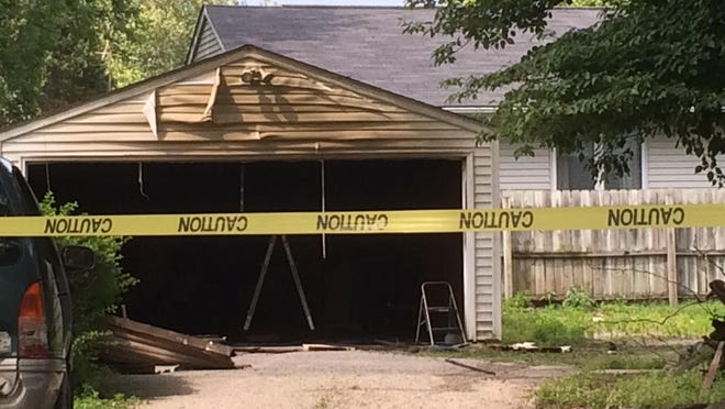 The Iowa City Fire Department responded to a home in the 600 block of South First Avenue after receiving a report of a man caught inside a burning detached garage on July 10.