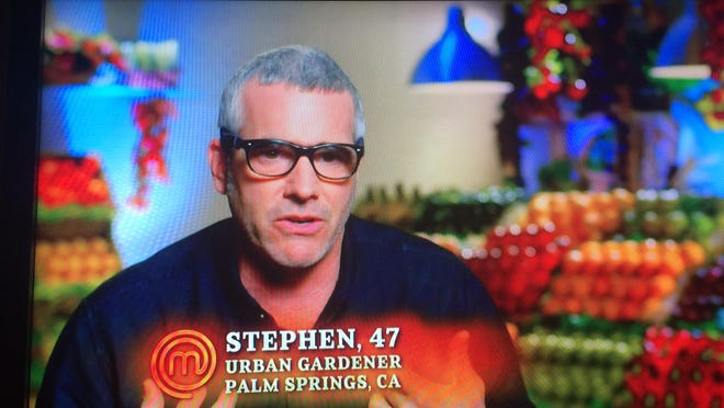 A screen shot of Stephen Lee of Palm Springs who is a contestant on Master Chef on Fox.