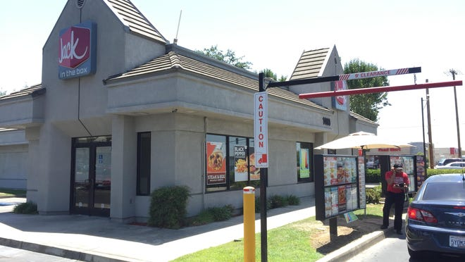 Jack in the Box restaurant at East Houston Avenue and North Ben Maddox Way in Visalia.