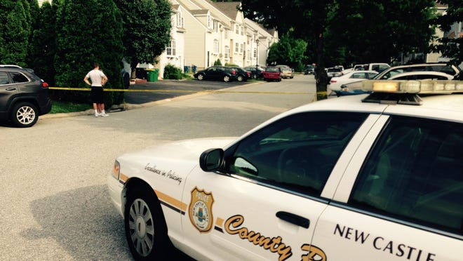 New Castle County police investigate a shooting that left two people dead in a home on Monferrato Court near Bear.
