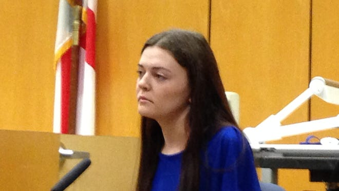 Rebecca Gotay takes the stand during her bond revocation hearing before Judge James Earp.