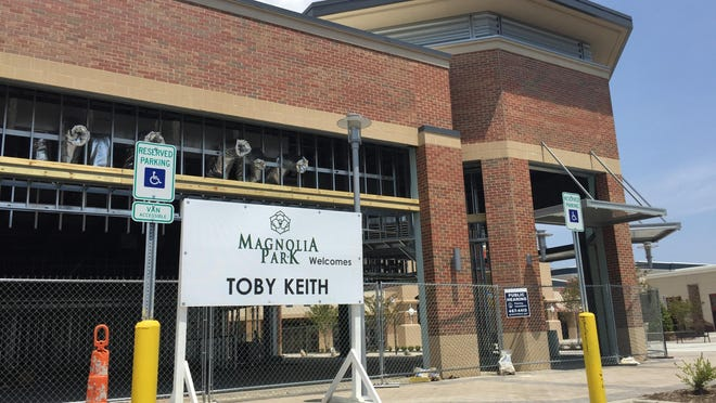 Toby Keith restaurant sites under construction at Magnolia Park Monday, July 27, 2015.
