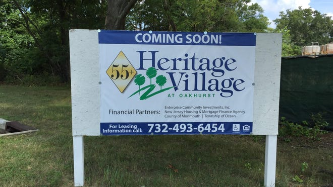Heritage village at Oakhurst construction is underway.