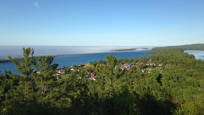 A view of Copper Harbor from the Brockway Mountain Overlook.