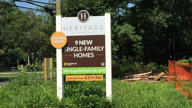 Construction has started on nine single-family homes off Wayside Road in Neptune.