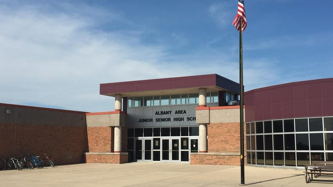 Voters in the Albany school district will decide a $33-million referendum on Tuesday. As part of the proposed project, all schools would get updated secure entrances, including this one, which would lead visitors into the district offices before entering the school.