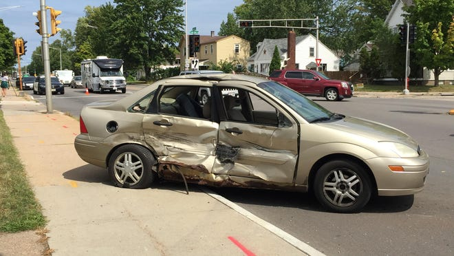 The above crash occurred at the intersection of Grand Avenue and Townline Road.