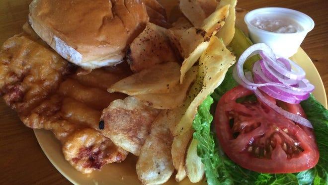 The breaded tenderloin sandwich from Hoosiers in Paradise on Fort Myers Beach.