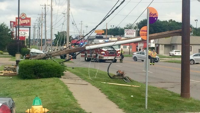 A driver lost control of his vehicle and struck a utility pole causing more than 1,500 customers to lose power Sunday, Aug. 9.