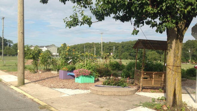 The Pocomoke City Downtown Community Garden sits at the corner of Clarke Avenue and Willow Street.