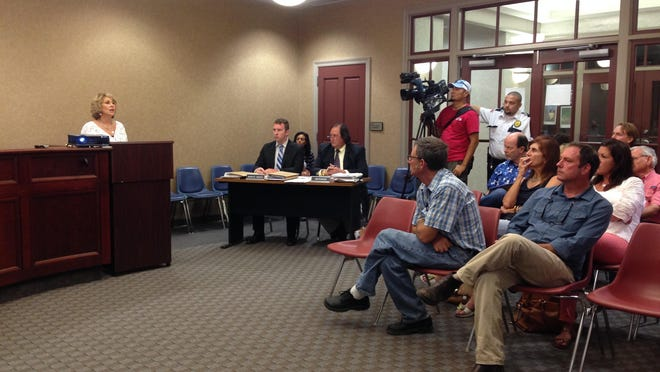"""Artmosphere owner Beryl """"Berry"""" Kemp Moody speaks to the Lafayette Consolidate Government Zoning Commission during its regular meeting Monday evening."""