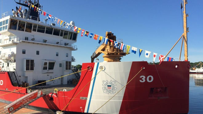The U.S. Coast Guard Cutter Mackinaw is shown docked in Sturgeon Bay during a past Maritime Week celebration. This year's Maritime Week activities are scheduled for Aug. 3-11.