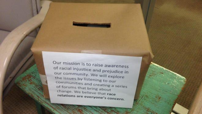 A sample survey box.