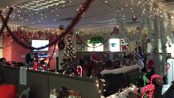 Entrada's offices in Brentwood were decked out for the holidays. The company is one of the top 100 places to work in health care, according to a new ranking from Modern Healthcare.