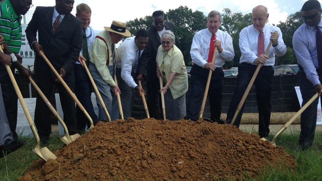 The city broke ground at Lanier Place Tuesday, Sept. 1, in Graetz Neighborhood.