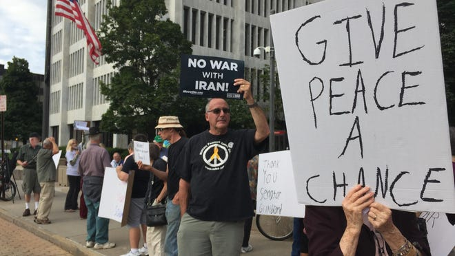 Activists rallied downtown last month in favor of a nuclear deal with Iran. New York's House delegation voted 14-13 against the deal, which might go through anyway.