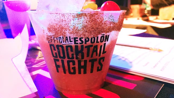 Eli Sanchez's final cocktail made using ingredients provided by Chicago's team caption Brandon Phillips.