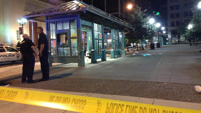 """Court documents say suspect Calvin Hooker III admitted to police that he stabbed Thomas L. """"Cannibal"""" Cottingham of Wilmington, at the DART bus shelter at Rodney Square."""