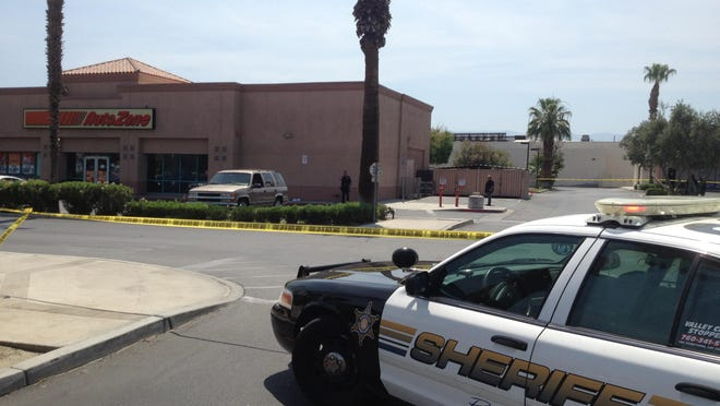 The scene of the fatal shooting of Ernest Foster Jr. on July 4, 2013 on Highway 111 in Indio.