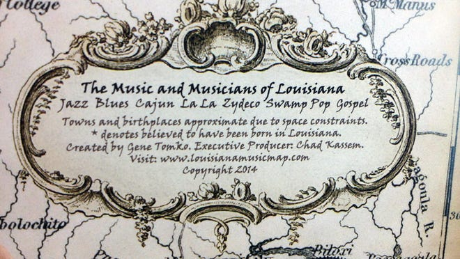 La. Music Map inset.
