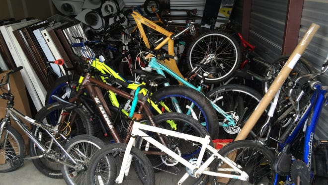 Dozens of bikes were stolen by Andrew Petersen and held in storage facilities in north Fort Collins as well as a trailer on the outskirts of the city, police said.
