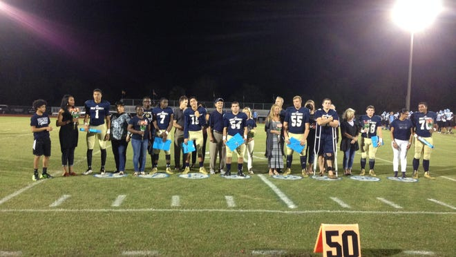 Holy Trinity honored its senior players on Senior Night before defeating Somerset Academy Silver Palms of Homestead 33-15.