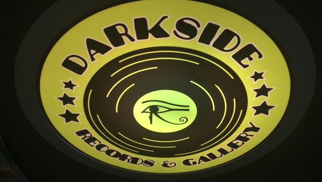 The logo for Darkside Records & Gallery in Poughkeepsie.