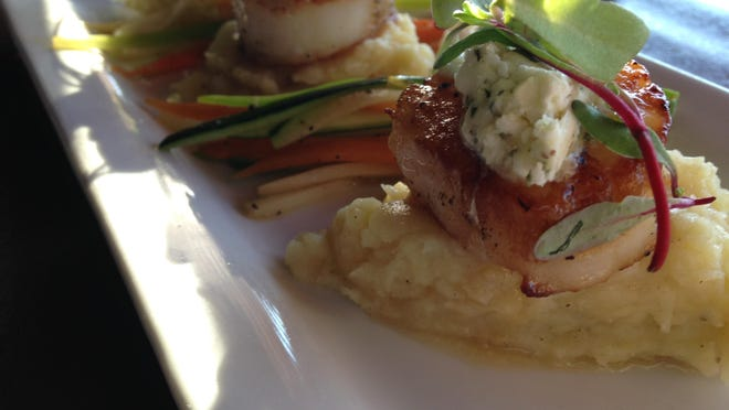 Sea scallops with potato hash from Sobo's Beersto.