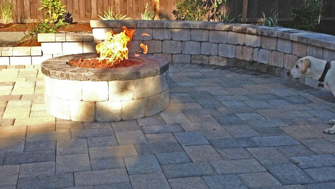 Porous pavers are designed to allow rainwater to seep into the ground.