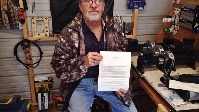 George Mitchell of Enville received a letter from President Barack Obama concerning the nation's energy crisis.