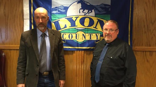 Commissioner Joe Mortensen, left, and Chairman Bob Hastings.
