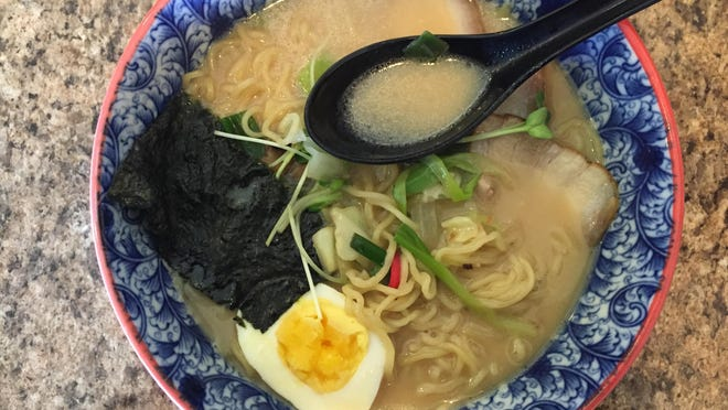 To create the creaminess of tonkotsu ramen's broth, pork bones are simmered, causing them to release their fat and collagen. Minato Noodles serves several styles of ramen, as well as udon noodle hot pots.