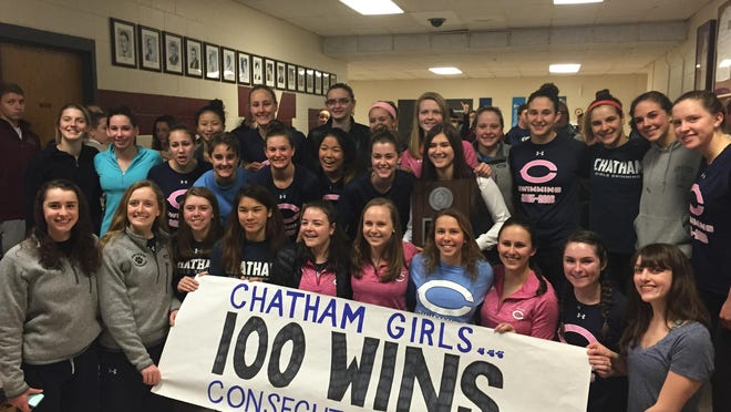 Chatham won its eighth straight Morris County title, and 100 consecutive meets.