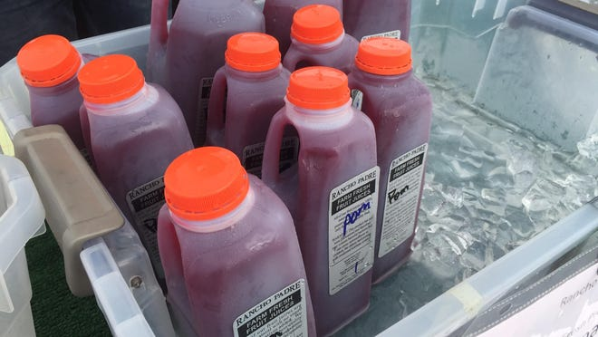"""Rancho Padre Farms prides itself on the motto """"We Grow What We Sell."""" Their most popular item is their pomegranate juice which is usually sold for $4 per pint, $7 a quart, and $12 a gallon."""