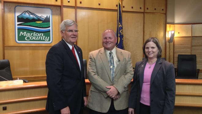 Marion County commissioners Kevin Cameron (left), Sam Brentano (middle) and Janet Carlson.